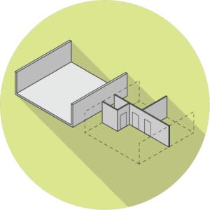 kameleonwoningen - casco en inbouw volledig gescheiden